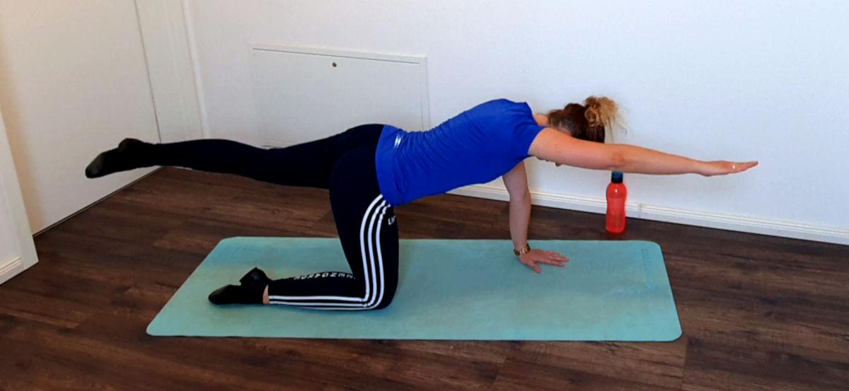 Um deine Rumpfstabilität zu trainieren eignet sich der 4-Füßler-Stand mit Crunch