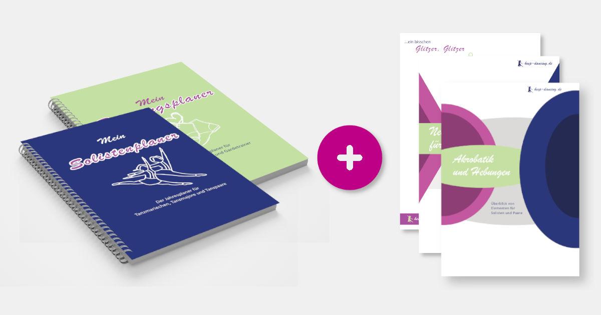 Das Double: Der Solistenplaner für Tanzmariechen, Tanzmajore und Tanzpaare, der Trainingsplaner für Gardetrainerinnen und Gardetrainer sowie die PDFs