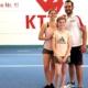 Akrobatikfuch Sydnee Ingendorn und Lisa Roczniewski von keep-dancing mit ihrem Tanzmariechen beim Akrobatik Lehrgang