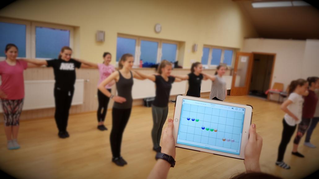 Choreographien erstellt ihr klassisch auf dem Papier oder in speziellen Apps.