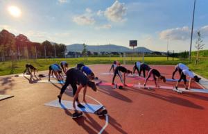 Training mit der Garde draußen