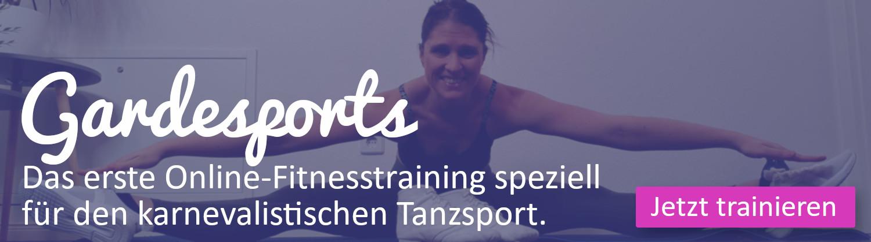 Gardesports: Das erste Online Fitnesstraining für den karnevalistischen Tanzsport