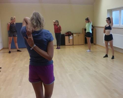 Ein Blick in unsere Trainingshalle: Der Spiegelsaal.