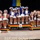 Die Jugendgarde des Tanzkorps BoKaGe e.V. bei der Siegerehrung auf der Deutschen Meisterschaft des RKK