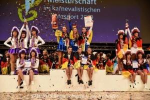 Siegerehrung der Juniorengarden bei der Deutschen Meisterschaft 2019