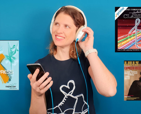Lisa von keep-dancing hört Gardemusik mit Kopfhörer