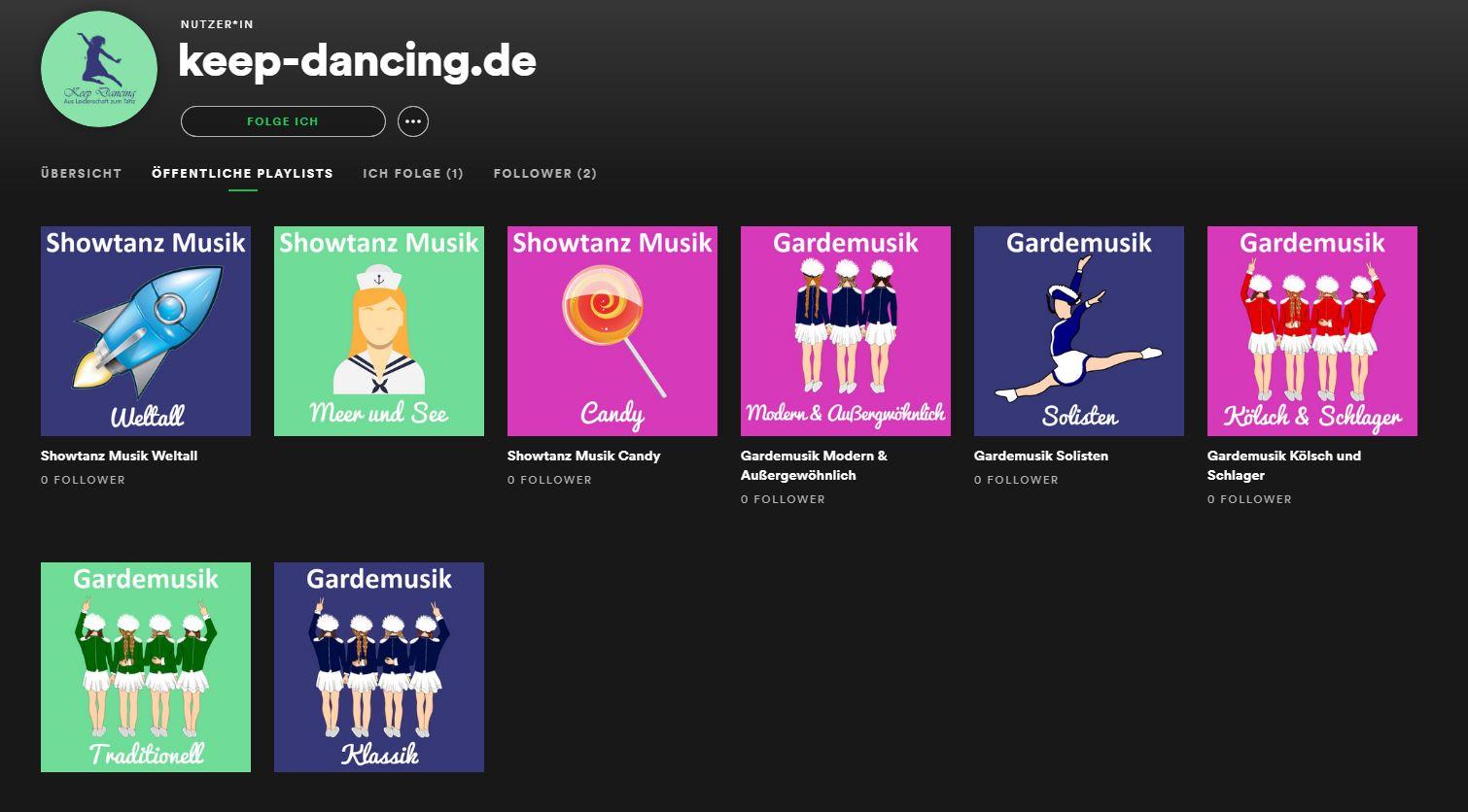 Spotify Playlisten mit Gardemusik