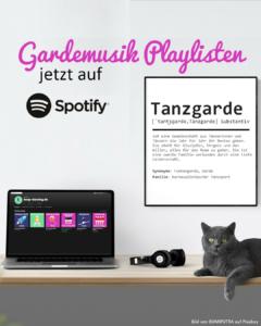 Gardemusik und Showtanzmusik bei Spotify